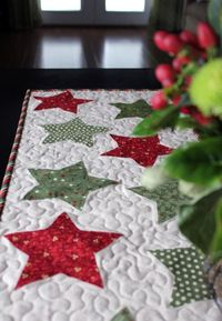 Christmas Star Table Runner KIT (Christmas Brights). $16.50, via Etsy.