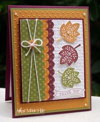 Sweet Layered & Embossed Fall Leaves Card...i STAMP by Nancy Riley.