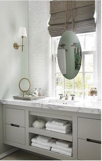 update a bathroom with pained cabinets a neutral color like grey