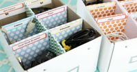 Great idea for organizing electric cords using a shoe box