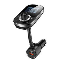 HY90 QC3.0 Fast Charge Big Screen Car MP3 Player Bluetooth Receiver Car Charger
