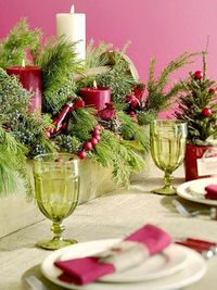 Check out these four festive Christmas table settings for easy, inexpensive decorating ideas that start with everyday items.