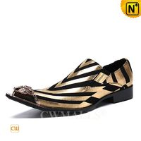Haute Couture | Men Printed Leather Dance Shoes CW719052 | CWMALLS.COM