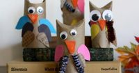 Caring For Earth | Cardboard Tube Owls | Kiwi Crate