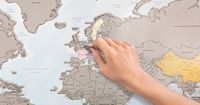World Map Allows Travelers To Scratch Off All The Countries They've Visited