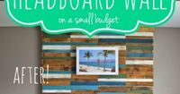 Build a Plank Headboard Wall | Pearls Pinstripes and Peanut Butter featured on Remodelaholic.com
