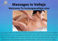 Lucky Spa Vallejo is a family business owned and operated by a local resident who has been in the massage business for years. She has worked and owned Spa's as we mentioned for years and got into the therapy business because she loves to help people...
