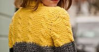 Tunisian Cable and Rib Sweater by Lindy Zubairy, Inside Crochet issue 51 | Inside Crochet