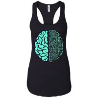 Electric Brain - Doodle Art - Women's Racerback Tank Top $19.97