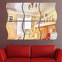 6pcs/set DIY S Shaped Acrylic Mirror Effect Wall Sticker $11.99