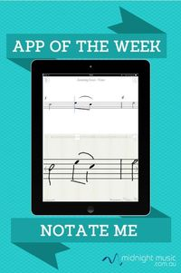 App of the Week This week's app is NotateMe. A free version with limited features - called NotateMe Now - is also available. About NotateMe allows you to handwr