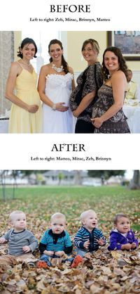 Before and After Maternity and baby photos