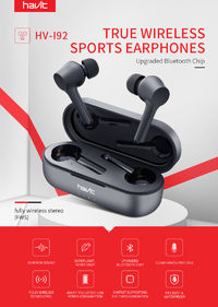 Havit I92 TWS Wireless bluetooth 5.0 Earphone Smart Touch IPX5 Waterproof Bilateral Call Stereo Headphone with Charging Box