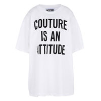Moschino COUTURE IS AN ATTITUDE Womens Short Sleeves T-Shirt White