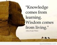 Knowledge comes from learning
