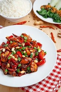 A popular and tasty Chinese sauteed chicken dish form the Sichuan province that uses red chilies and Sichuan peppercorns.