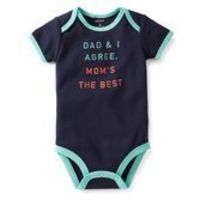 Big and little dudes have a to stick together! Surprise Mom with this special and cute bodysuit. It's fun to celebrate family!