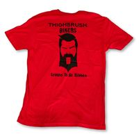 "THIGHBRUSH® BIKERS - ""Grown to be Ridden"" - Men's T-Shirt - Red and Black"