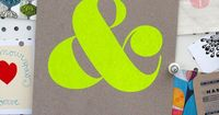 Ampersand Screen Print Neon Yellow 3rd Edition by shopampersand, $22.00