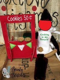 Elf Cookie stand with apron