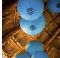 I really like the idea of having hanging paper lanterns - there's something about them that brighten up and room and make me smile...