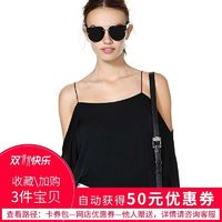 Oversized Sexy Open Back Off-the-Shoulder 1/2 Sleeves Casual Chiffon Top Strappy Top - Bonny YZOZO Boutique Store