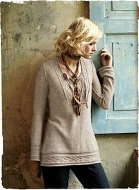 Cabled Alpaca Kurta- I love the preppy rustic feel of this #sweater #top