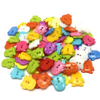 Pack of 100 Assorted Colours Penguin Buttons. 14mm x 16mm Children Fasteners £7.19