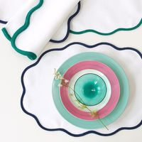 Scallop Placemats & Napkins $135.00