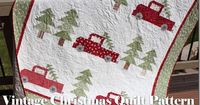 Hey guys! I'm so excited to be releasing my very first quilt pattern! It's called Vintage Christmas and hopefully you'll love it as much as I do!  I mean who doesn't love heading out to look for that perfect Christmas tree? This ...