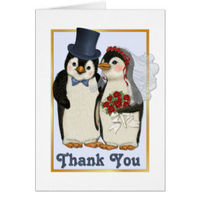 Penguin Winter Snowflakes Wedding collection