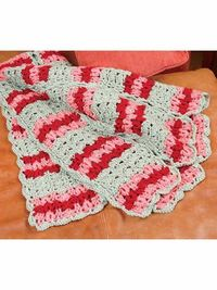Cro-Tat Master Mile-a-Minute Shells and Rings Afghan