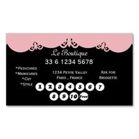Lace Boutique loyalty business cards