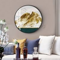 Framed wall art Gold art Mountains art Abstract Paintings on canvas landscape wall pictures textured painting cuadros abstractos $609.00