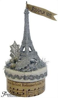 Joyeux Noel I could so do this, already have the glitter eiffel tower.