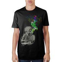 Einstein Smoking Black T-Shirt $20.00