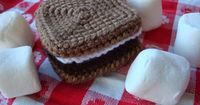S'mores free crochet pattern.
