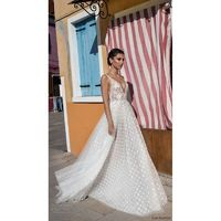 Gali Karten 2018 Embroidery Tulle Aline Sweet V-Neck Sleeveless Sweep Train Ivory Wedding Gown - Truer Bride - Find your dreamy wedding dress