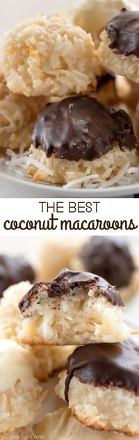 This is the BEST Coconut Macaroon recipe! Easy, one bowl, and fast they're the perfect coconut cookie!