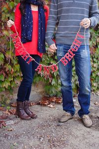 These couples shared a portrait session for their yearly Christmas card shoot.