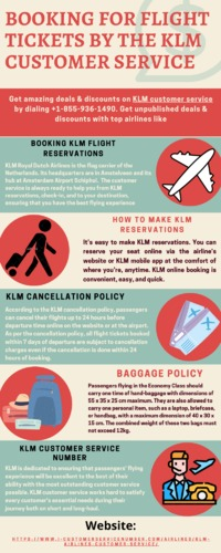 Whether you want to enquire about live arrival and departure times or information concerning KLM Flight booking online Reservations, cancellation & change policy, KLM Customer Service is always available to provide prompt assistance to the customers. ...
