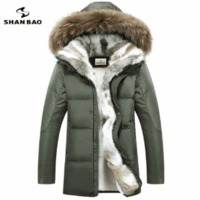 Men's and women's leisure down jacket high quality thick warm warm with Fur hooded parka brand big size yellow black white S-5XL $221.88 zhif.myshopify.com