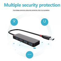 4 Port USB 3.0 USB Hub 5G High Speed Charging Splitter for Notebook Laptop Tablets USB Devices