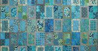 Rear Window Batik Quilt Kit. Pattern by Amy Walsh for Blue Underground Studios