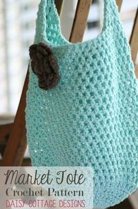 Repeat After me Crochet: Two Hour Tote - Free Market Tote Crochet Pattern