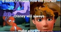 They left out the fox and the hound. Now that is sad.