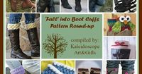 Kaleidoscope Art&Gifts: 'Fall' into Boot Cuffs Free&Paid pattern round-ups and a sizing guide for designers