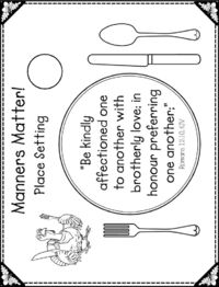 Printable Place-Setting Placemat, Thanksgiving Theme