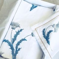 Pure satin tablecloth handmade embroidery $2680.18