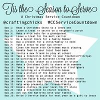 Service Christmas Countdown Instagram Challenge. Follow along with us as we invite the Spirit of Christmas into our homes through service!